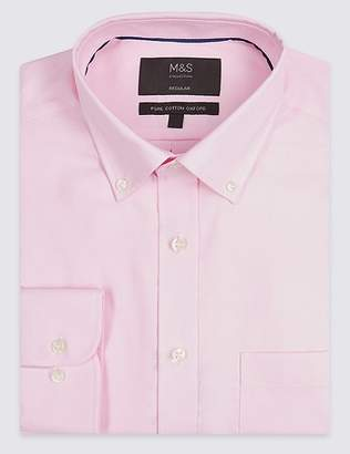Marks and Spencer 2in Longer Regular Fit Oxford Shirt