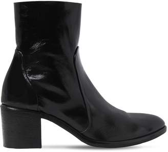 Strategia 50mm Naplack Patent Leather Ankle Boots