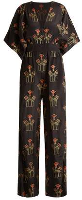 Zandra Rhodes - Archive Ii The 1967 Lipstick Jumpsuit - Womens - Black Print