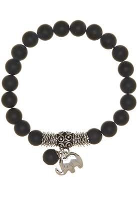 Jean Claude Black Onyx Tibetan Elephant Charm Bracelet