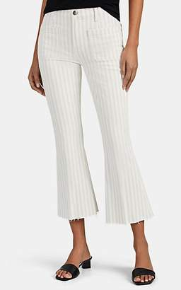 Frame Women's Le Bardot Striped Crop Flared Jeans