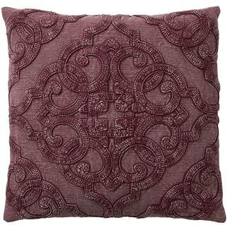 Pottery Barn Drew Embroidered Pillow Cover - Fig