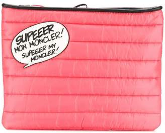 Moncler speech bubble quilted clutch