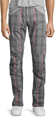 G-Star Elwood X25 Princes of Wales Check 3D Tapered Jeans, Black/White/Red $170 thestylecure.com