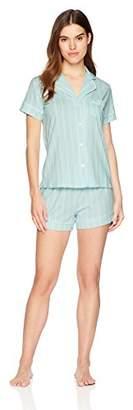 Mae Women's Sleepwear Notch Collar Short Pajama Set