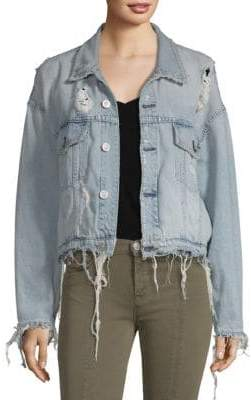 Hudson Distressed Denim Jacket