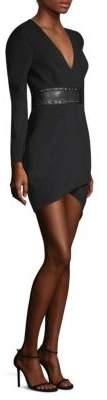 BCBGMAXAZRIA Natalea Asymmetrical Open-Back Dress