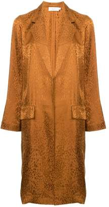 A.L.C. animal print single-breasted coat