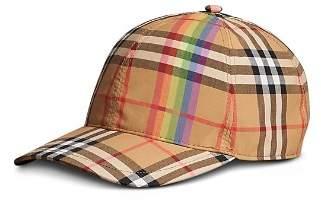Burberry Rainbow Vintage Check Baseball Cap