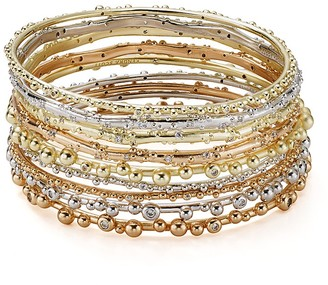 Kendra Scott Sooter Bangle Bracelets, Set of 9 $150 thestylecure.com
