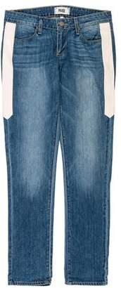 Paige Denim Low-Rise Straight Jeans w/ Tags