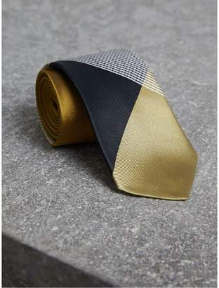 Burberry Modern Cut Check Silk Twill Jacquard Tie $225 thestylecure.com