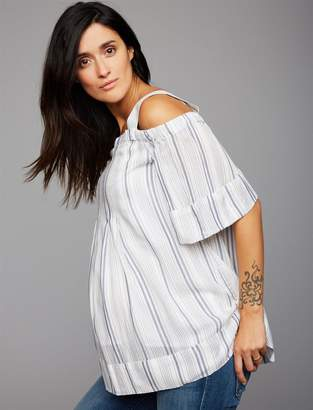 A Pea in the Pod Off The Shoulder Maternity Blouse