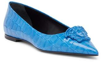 Versace Medusa Pointed Toe Flat