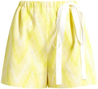 Rochas Chevron-jacquard cotton-blend shorts