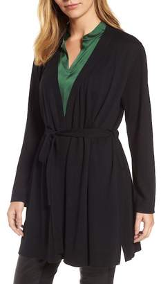 Eileen Fisher Tie Waist Tencel(R) Lyocell Blend Cardigan (Regular & Petite)