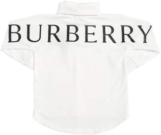 Burberry Logo Printed Jersey Long Sleeve T-Shirt