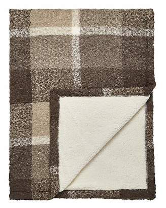 Marisota Boucle Check Supersoft Sherpa Throw