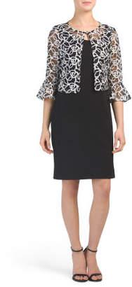 2pc Soutache Jacket Dress