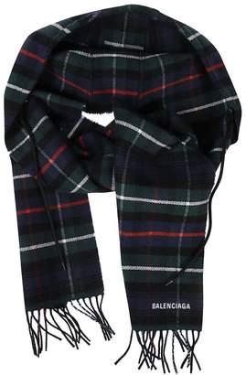 Balenciaga Striped Pattern Scarf