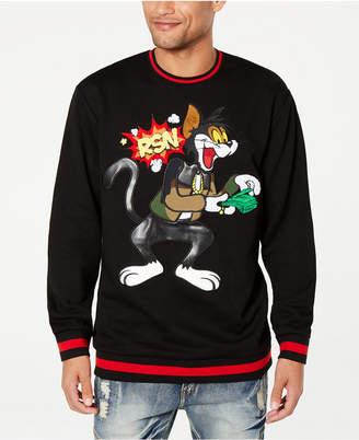 Reason Men's Money Cat Striped-Trim Sweater