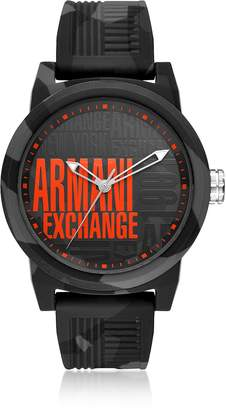 Emporio Armani Atlc Logo Face Silicone Men's Watch