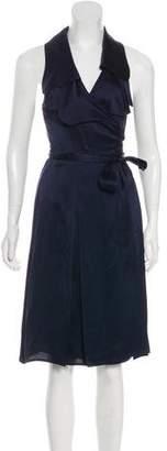 Burberry Silk Wrap Dress