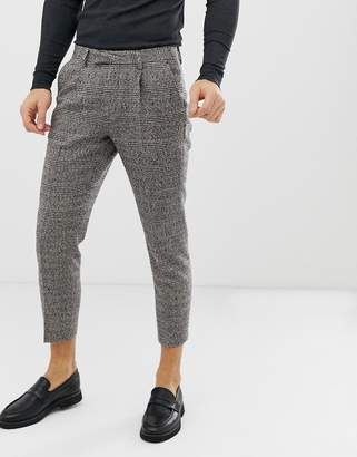 Asos Design DESIGN cigarette suit pants in camel check