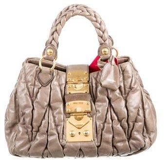 Miu MiuMiu Miu Matelassé Pleated Handle Bag