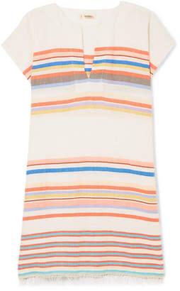 Lemlem Yodit Striped Cotton-blend Gauze Mini Dress