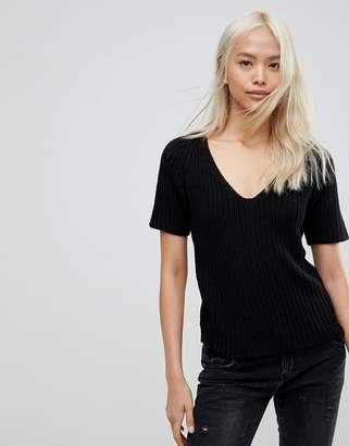 Noisy May Dude V-Neck Knitted Top