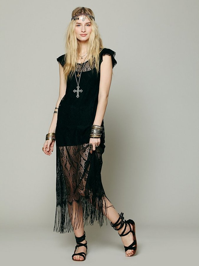 Free People Black Widow Dress
