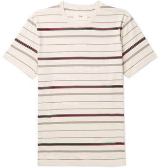 Folk Striped Cotton-Jersey T-Shirt - Ecru