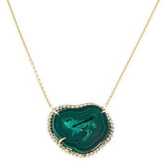 Kimberly McDonald 18K Malachite & Diamond Pendant Necklace