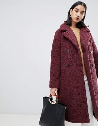Selected Teddy Wrap Coat