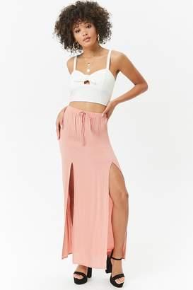 Forever 21 Crinkled M-Slit Maxi Skirt