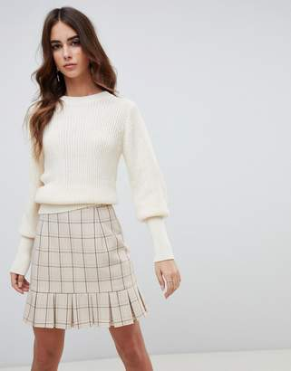 Fashion Union Sweater With Fitted Rib