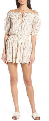HEMANT AND NANDITA Off the Shoulder Cover-Up Romper