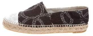 Chanel 2016 Cap-Toe Tweed Espadrilles