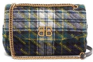 Balenciaga Bb Round M Bag - Womens - Green Multi