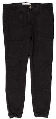 Veronica Beard Mid-Rise Cropped Jeans