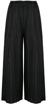 Pleats Please Issey Miyake cropped pleated trousers