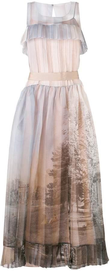 Fendi printed voile dress