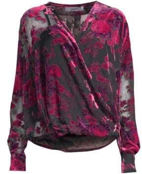 LIKELY Willow Burnout Velvet Blouse