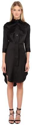 Vivienne Westwood Stretch Satin Animal Shirt Dress Women's Dress