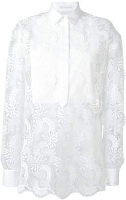 Ermanno Scervino sheer paisley layered shirt