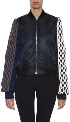 J.W.Anderson Bomber With Cable Knit Sleeves