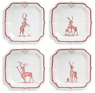 Juliska Country Estate Reindeer Games Solo Sports Party Plates Four-Piece Set