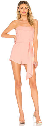 by the way. Sophya Strapless Bow Romper