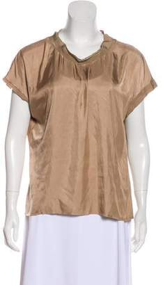 Lanvin Short-Sleeve Crew-Neck Top